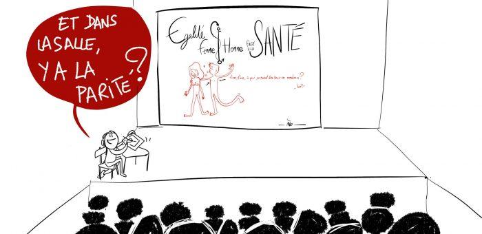 live sketching Egalité Femme/Homme face à la santé avec Ell'à Brest – questions