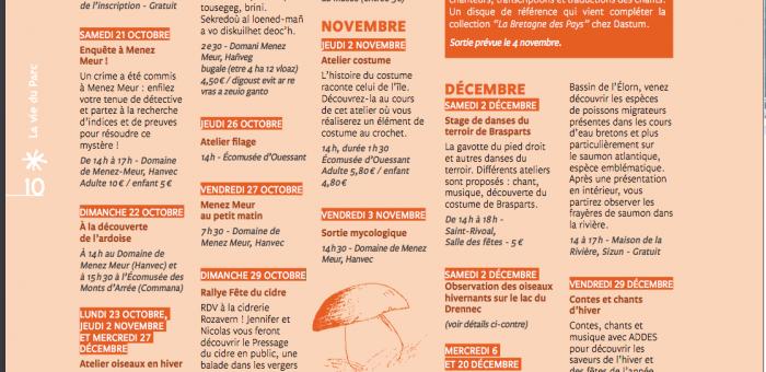 Buhez ar Park page agenda
